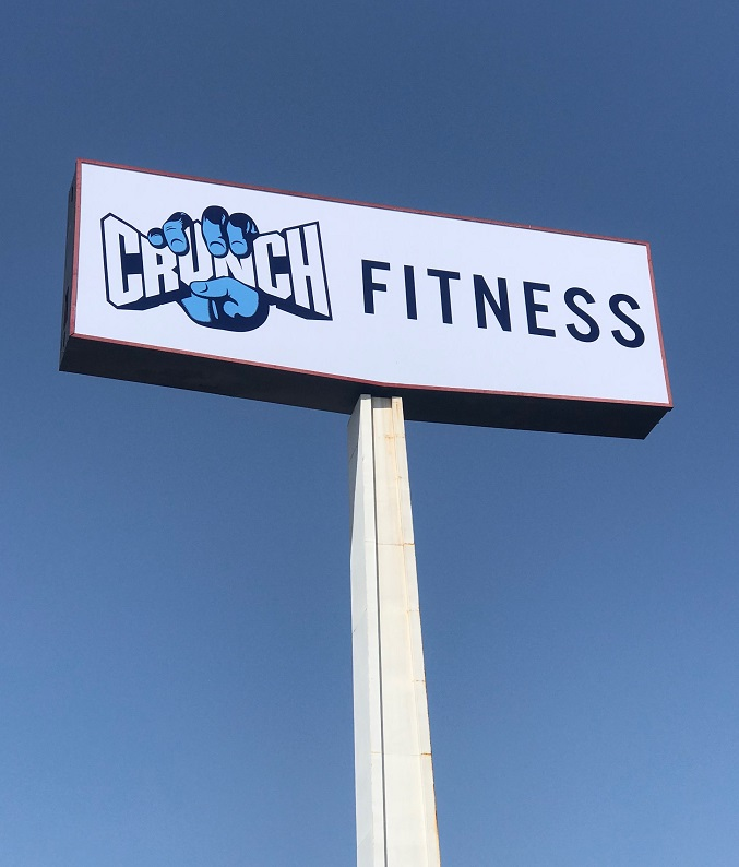 Rotating Pylon Sign Insert for Crunch Fitness La Mirada - Premium