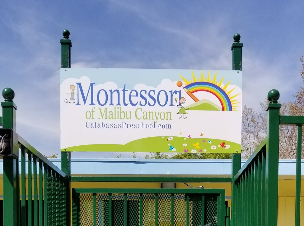 Custom Metal Signs For Montessori Preschool Of Malibu Canyon