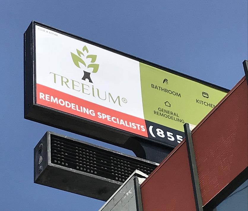 oversized banner, large banners, color banner, billboard cover, building banner, business banner, construction signage, remodeling signage, valley village