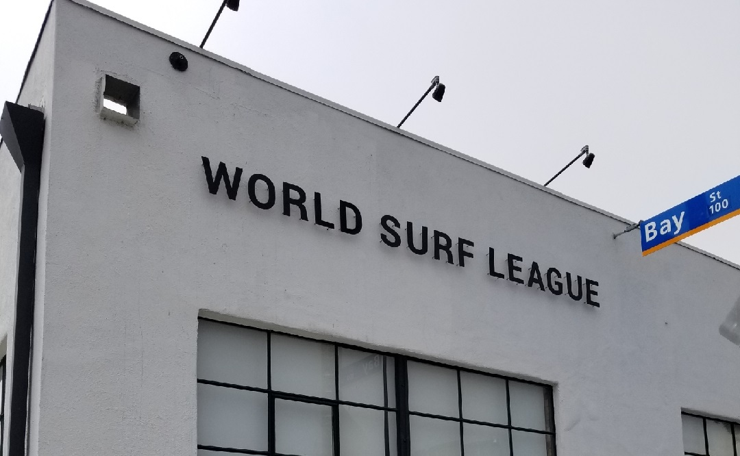 World Surf League Signage In Santa Monica Premium Solutions Magnificent Exterior Signage Design Plans