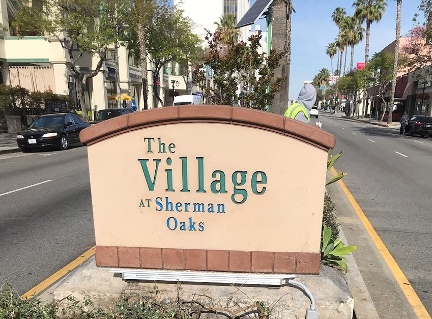 sign repair, monument sign repair, monument signs, custom monument signs, business development signage, sign makers, sign companies, sherman oaks, sign maker, sign company, the village, monument sign, outdoor sign