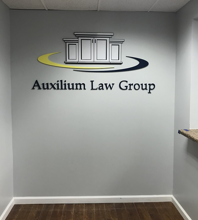 law office signs, lobby signs, interior signs, indoor signs, lawyer signs, sign makers, sign companies, sign installation