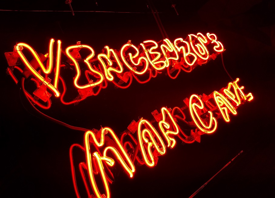 neon signs, custom neon, interior signs, interior design ideas, man cave sign, vincenzo, sign makers, sign companies, tarzana