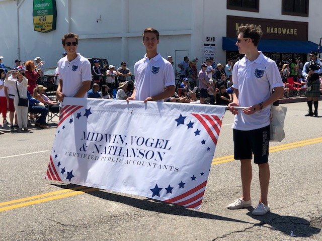 banners, pacific palisades, parade signs