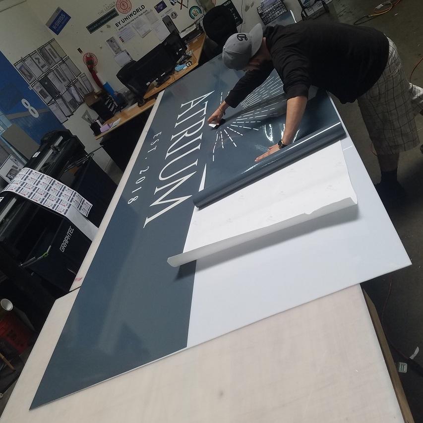 lexan signage, lightbox, lightbox insert, store front sign, lexan sign, illuminated signage, building sign, exterior sign, vinyl, tarzana