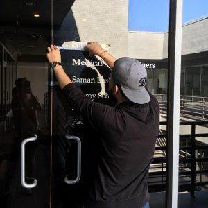 window sign, window vinyl, window graphics, exterior signs, sign companies, sign makers, tarzana