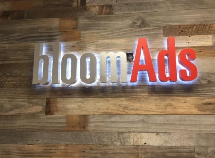 lobby signs, halo lit, channel letters, illuminated sign, interior signs, sign companies, woodland hills, halo-lit lobby sign
