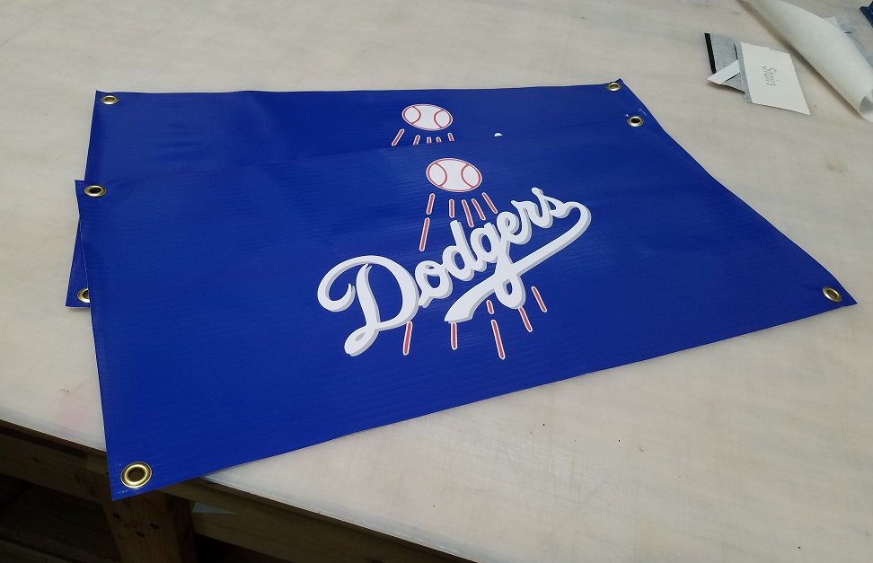 event banners, digitally printed banners, sports banners, los angeles, sign makers, dodgers banners