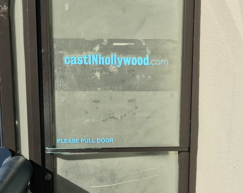 window vinyl, window lettering, window graphics, custom signs, entertainment industry, studio city, vinyl graphics
