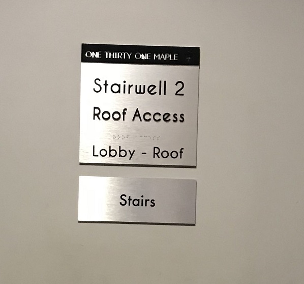 braille sign, tactile sign, braille, accessibility, disabilities, interior sign, indoor sign, wayfinding sign, emergency sign