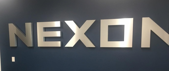metal signs, lobby signs, sign makers, interior signs, video game industry, los angeles, aluminum lobby sign