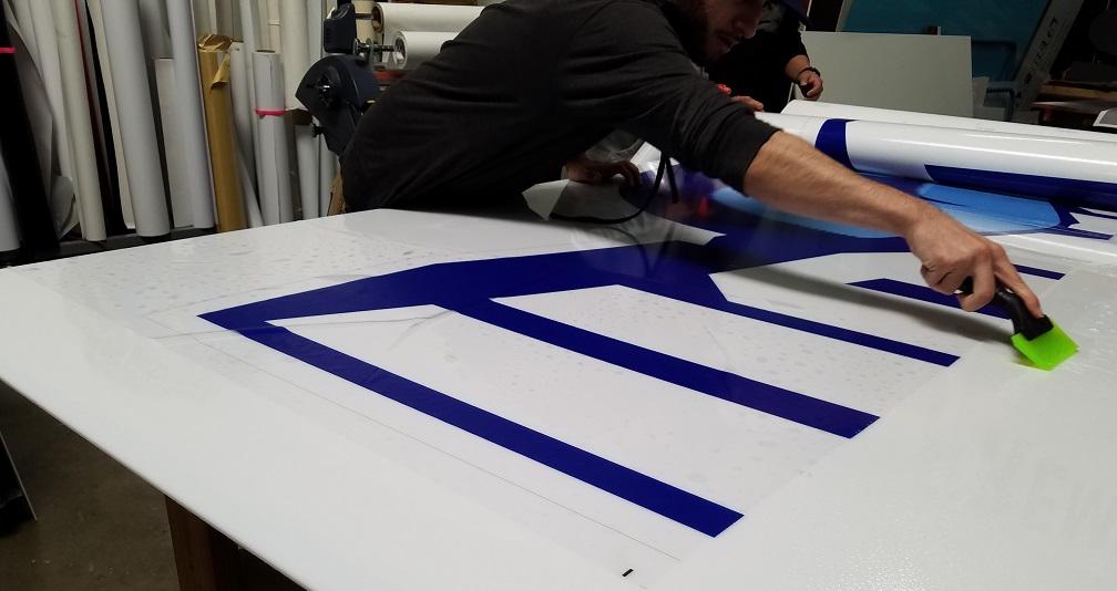 translucent vinyl, polycarbonate sign, lexan signs, exterior signs, large sign, sign companies, tarzana, sign production, business sign, indoor sign, outdoor sign, business signage