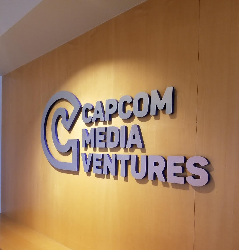 Lobby Sign for Capcom Media Ventures in West Los Angeles