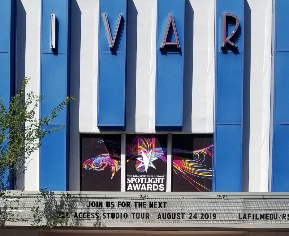 window graphics, window wrap, storefront window graphics, window advertising, custom window graphics, vinyl window signs, business signs, event signs, event signage, hollywood signs, theater signs, cinema signs, film signs, film school sign, school sign, los angeles, los angeles signs, los angeles film school, Sign Makers Los Angeles, Sign Company, Custom Sign Fabricators Los Angeles, Premium Sign Solutons Los Angeles, spotlight awards, award signs, award signage,