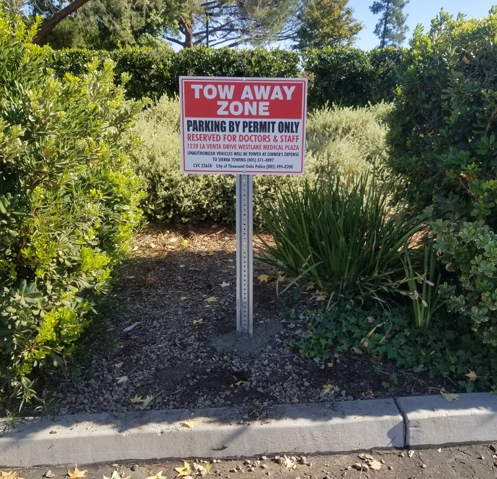 Parking Lot Sign, Tow Away Sign, Anchor Health Properties Exterior Signage, Safety Signs, Wayfinding Signage Company San Fernando Valley, Los Angeles Sign Makers, Thousand Oaks Sign Company, Premium Sign Solutions Los Angeles, Los Angeles Custom Signs