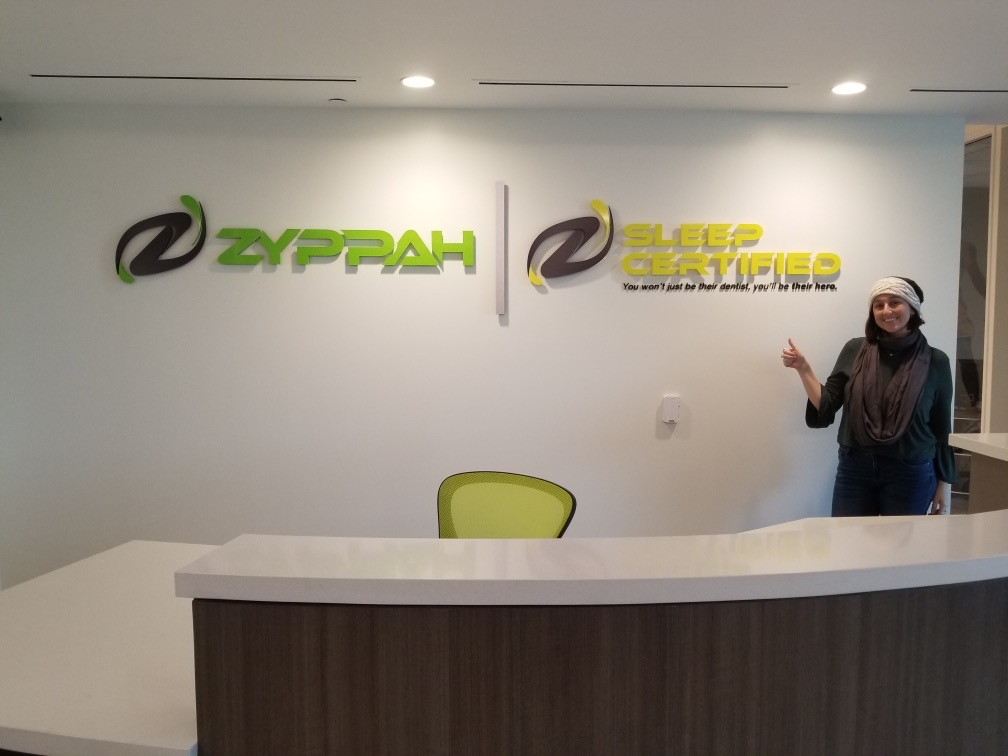office acrylic lobby sign, business sign, office sign, Lobby Sign, Reception sign, acrylic lettering, dimensional letters, company sign, logo sign, Zyppah Lobby Sign Calabasas, Sign Makers Los Angeles, Acrylic Lobby Sign Calabasas, Calabasas Sign Company, Premium Sign Solutions Los Angeles,