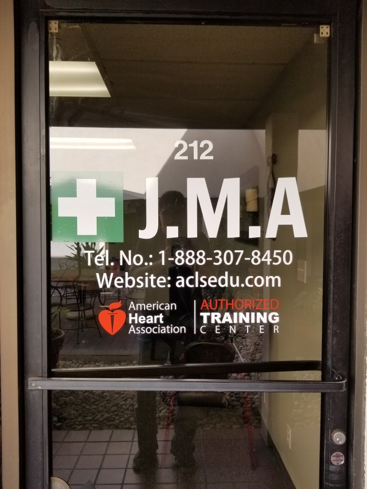 Clinic Window Graphics, clinic sign, Window graphics, window lettering, Jurman Medical Signage Encino, Medical Sign Company Encino, Custom Business Signs San Fernando Valley, Premium Sign Solutions, Exterior Medical Clinic Signs Los Angeles, Sign Makers Los Angeles