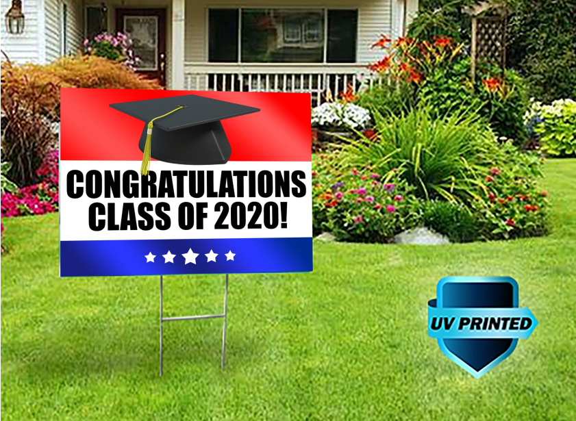 With graduation coming up, every school can purchase graduation signs to commemorate the students' achievements and commencement.