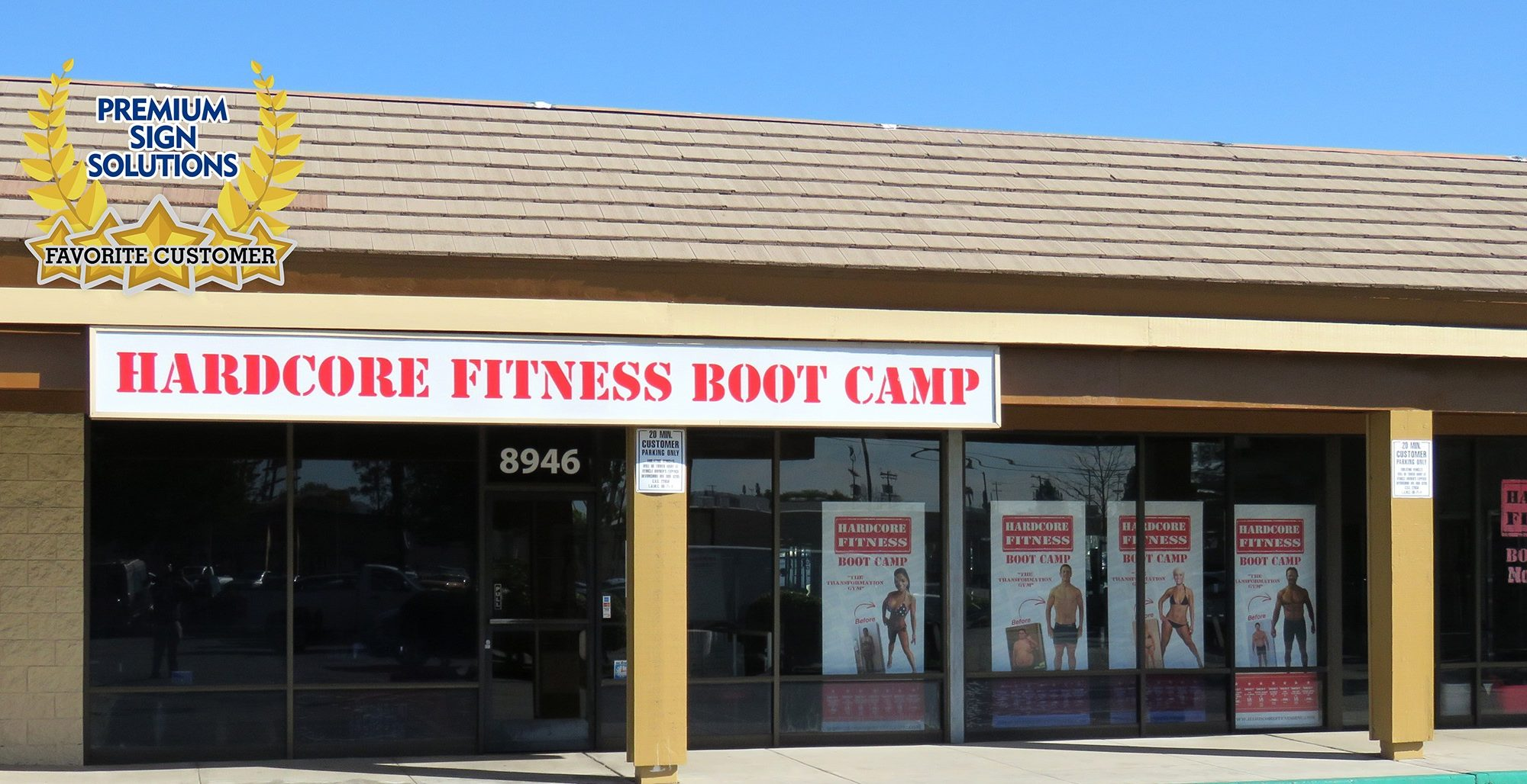 Hardcore Fitness is one of our favorite customers, we did their gym signs. They are still ensuring their community's fitness online!