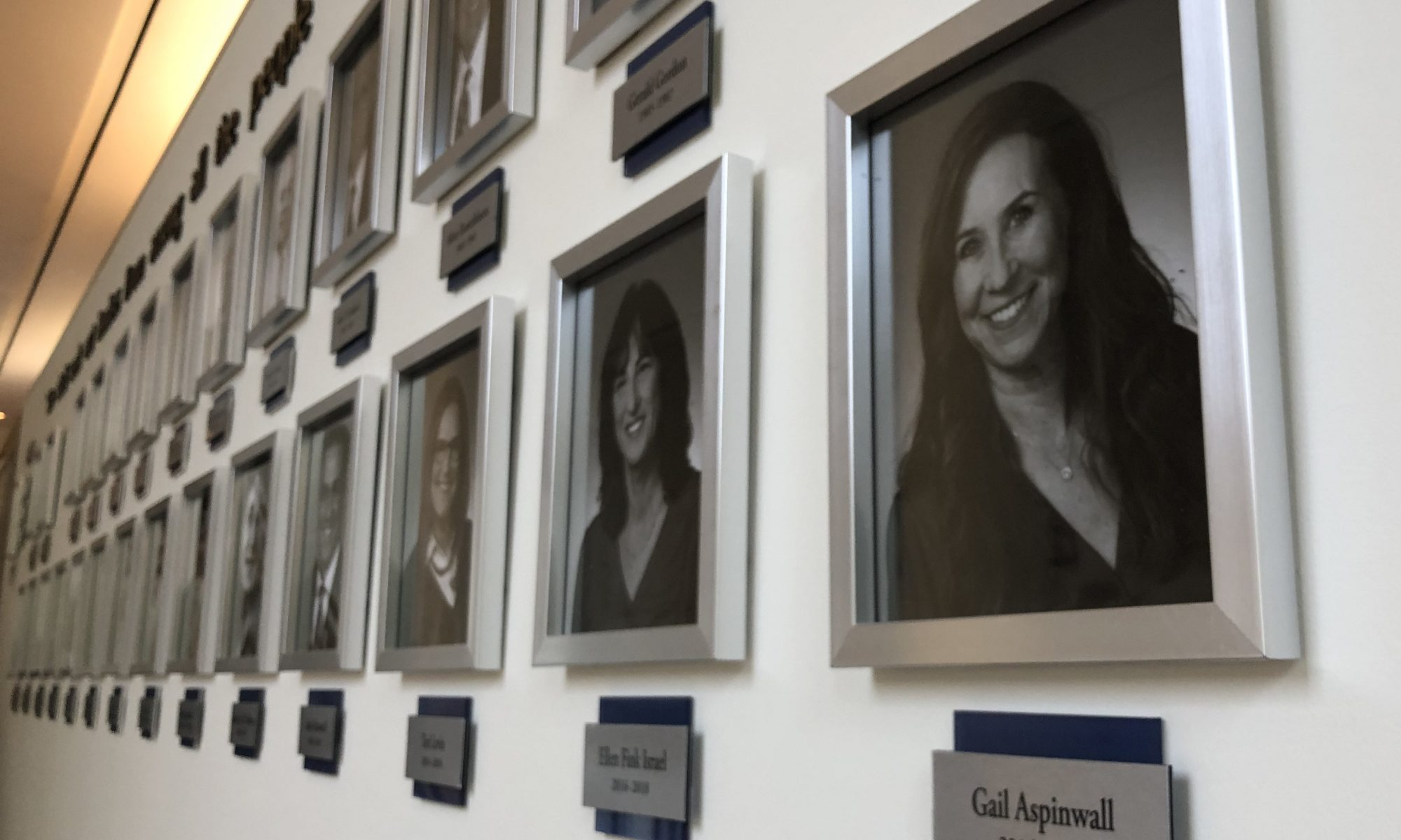 Temple Judea wanted to commemorate its past presidents. So we created multi-layered wall name plaques to label each president's photo and years served.