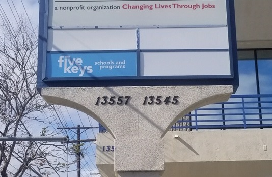 We made and installed pylon sign inserts for Five Keys. With these, the Pacoima establishment will have its brand visible