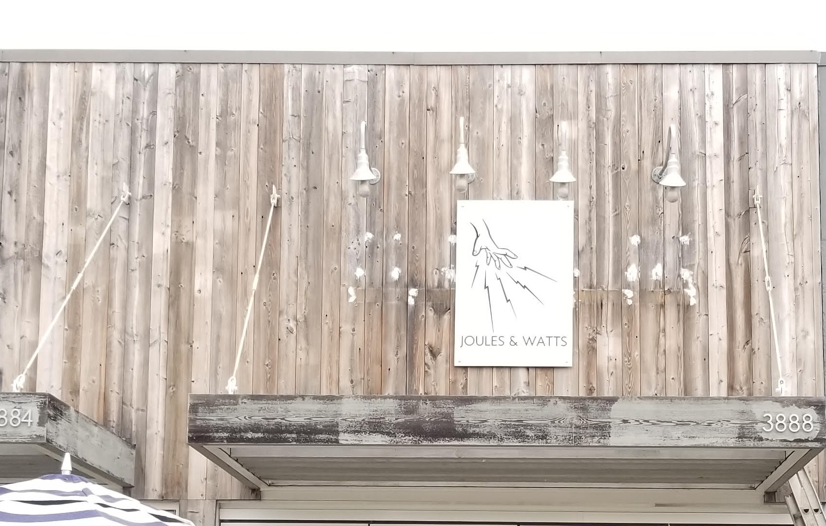 We fabricated and installed this custom business sign for Joules and Watt cafe in Malibu. Brands need to look distinct, and so do their signage!
