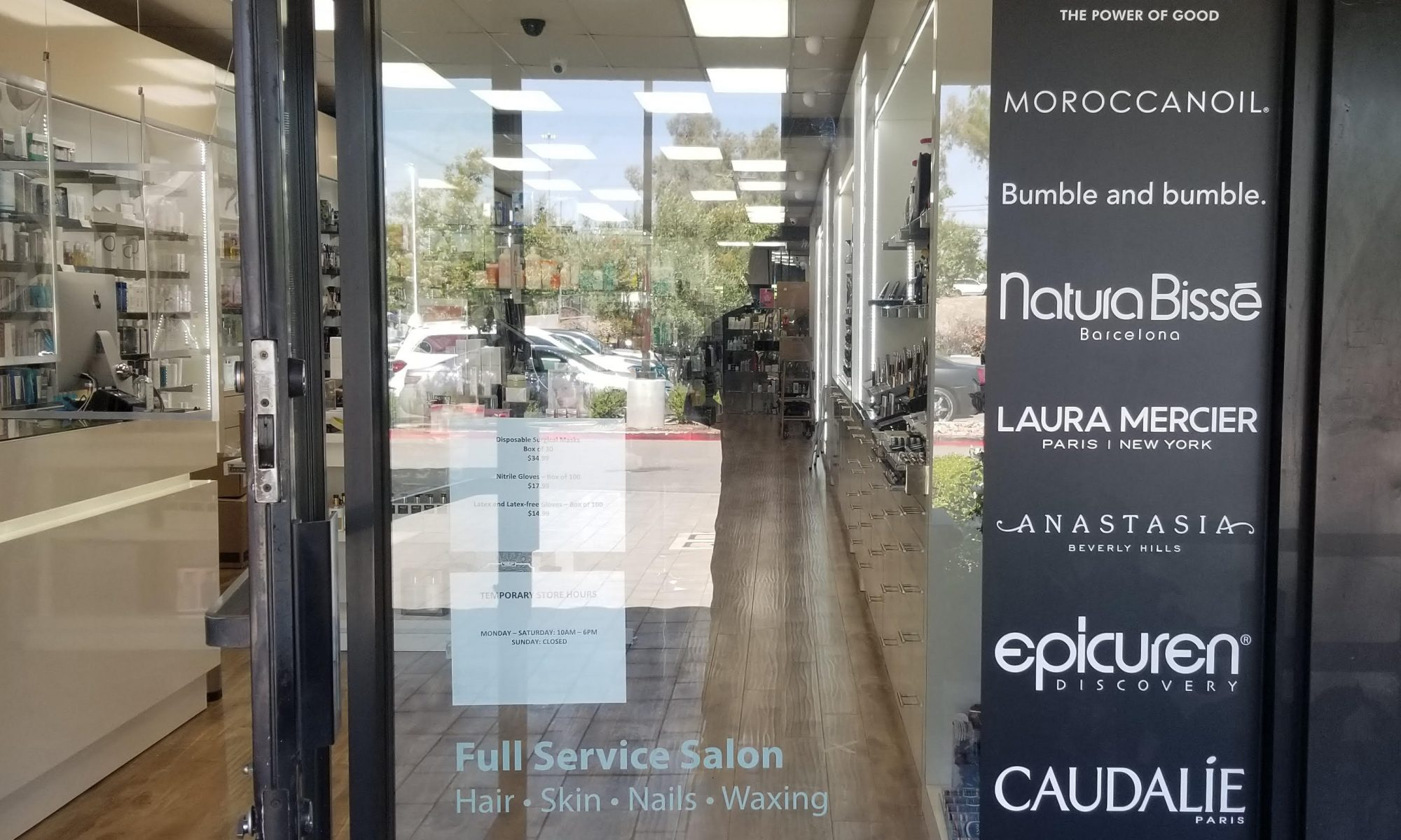 We created salon window graphics for Pro Beauty. So the Woodland Hills beauty center can advertise services while providing privacy to their clientele.