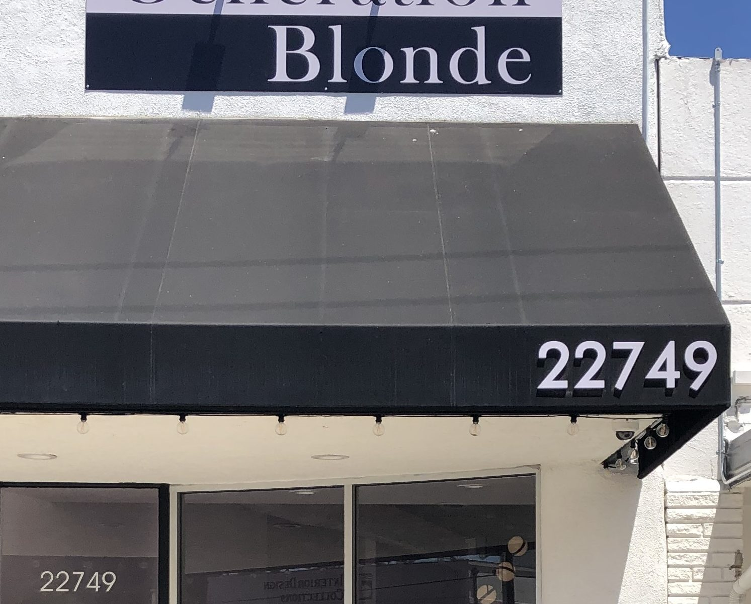 A dimensional lettering address sign is a must have for any business and will certainly make Generation Blonde in Woodland Hills easier to find.