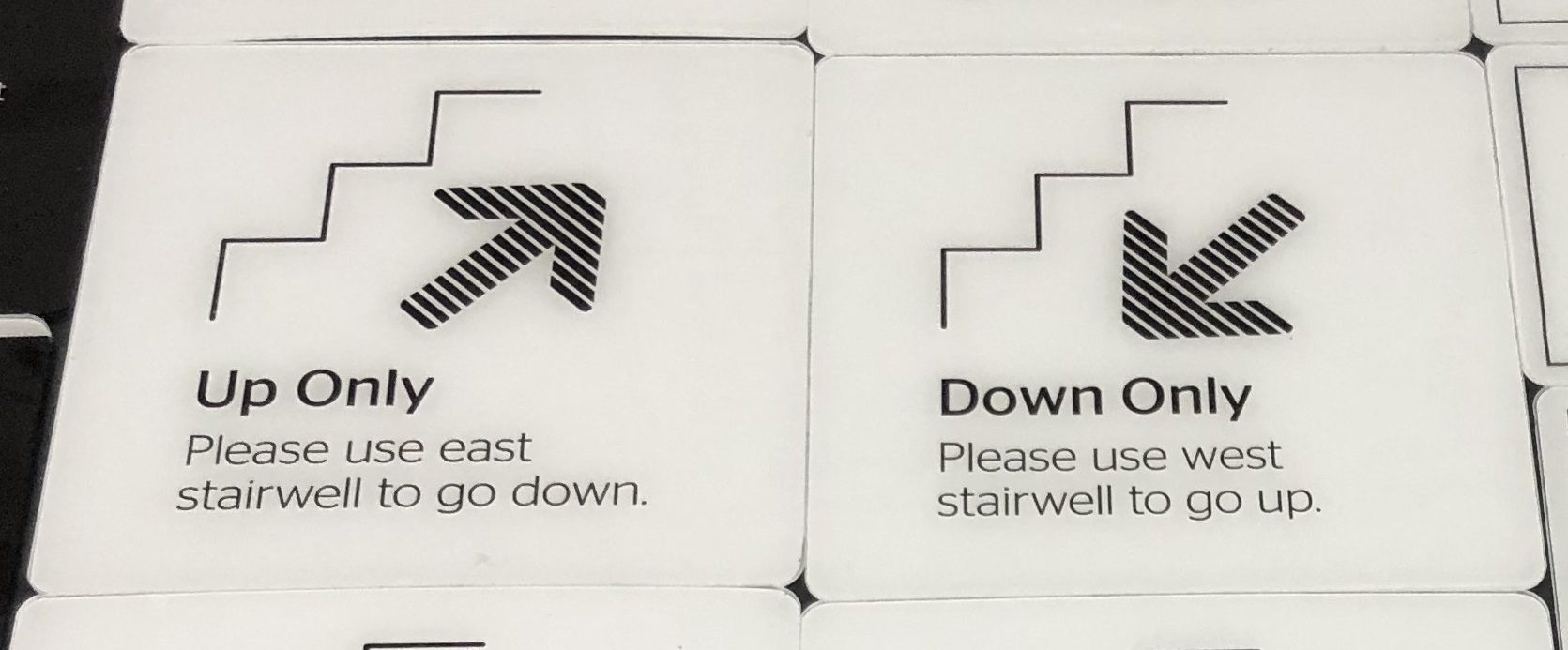 More folks will be taking the stairs to stay safe. Install stairwell signs to help with the flow of traffic while reducing the risk of transmission.