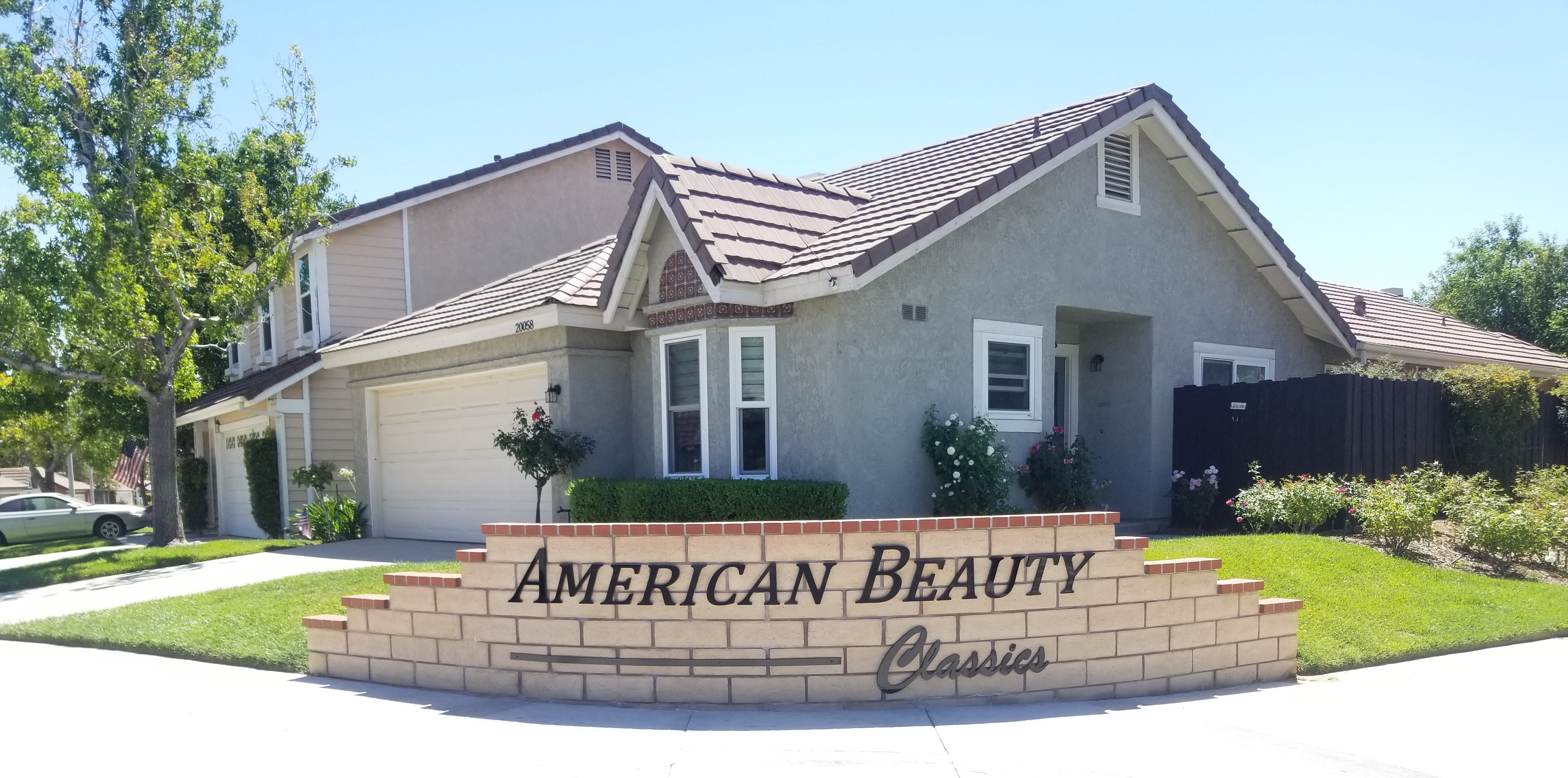 These are the extra streetside dimensional letters we made for American Beauty Classics in Canyon Country.