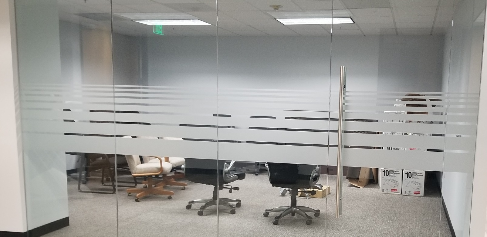 More signage for Schimmel and Parks. This time it is frosted vinyl office window graphics for the Sherman Oaks law firm's conference room.