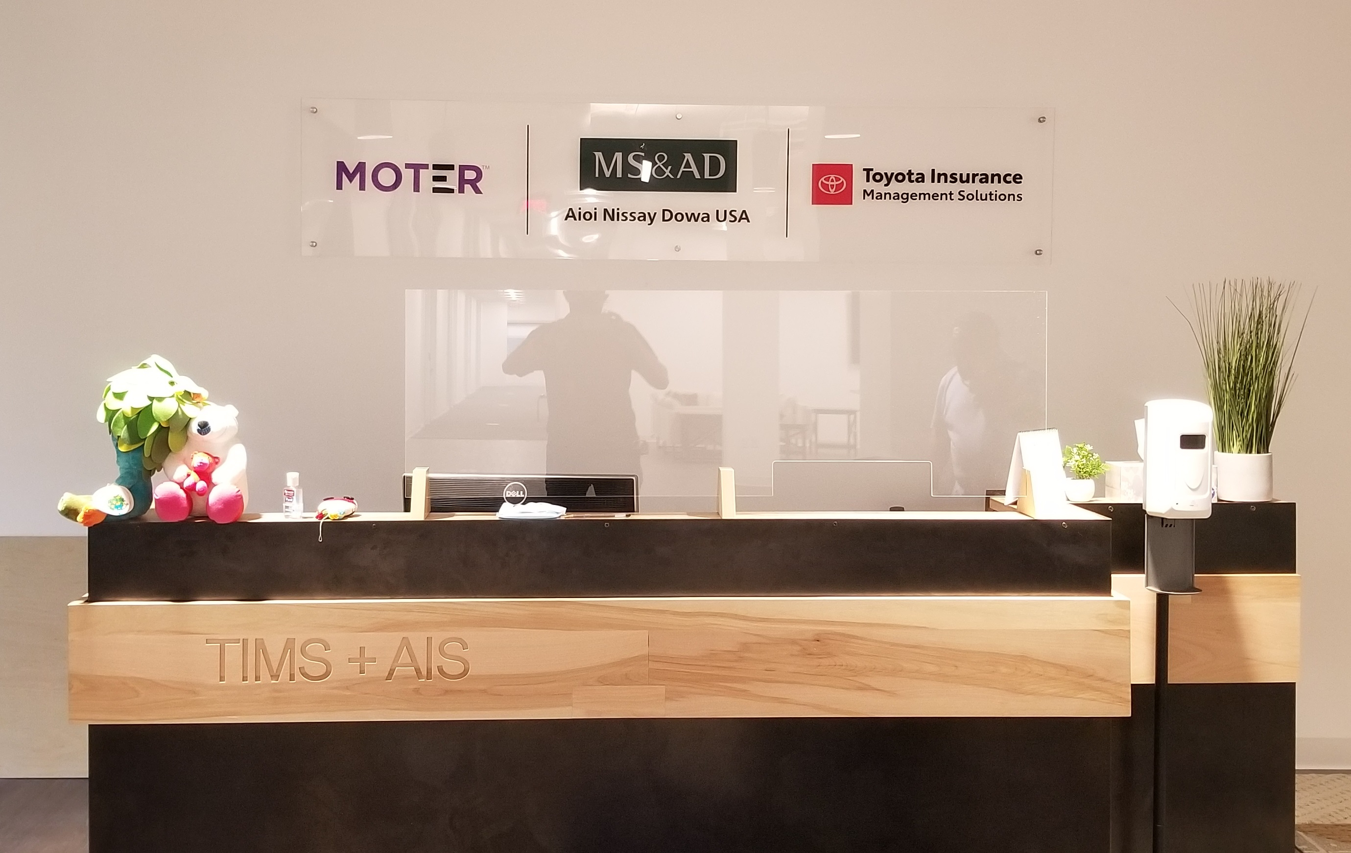 Impress clients as they enter your office or wait at the reception area. Like this acrylic panel lobby sign for Nissay's office in Torrance.