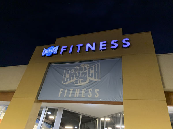 Channel Letters Sign Repair and Maintenance for Crunch Fitness Los Angeles California Gym Sign Package Los Angeles Sign Company Premium Sign Solutions Southern California Sign Makers