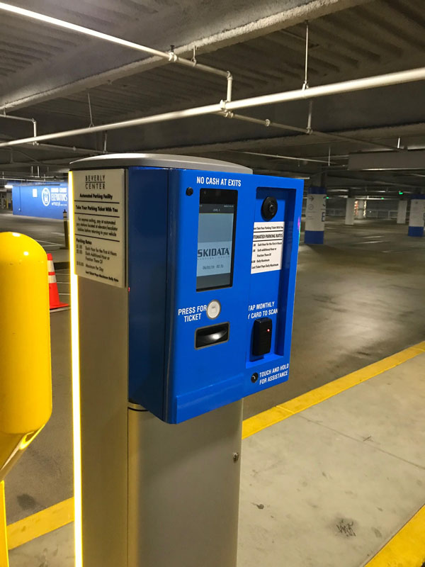 Beverly Center Entry and Exit Kiosks in Full Color Wrap in Blue