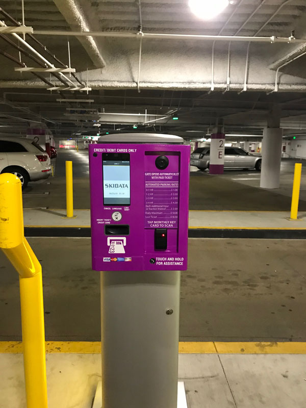 Beverly Center Entry and Exit Kiosks in Full Color Wrap inPurple