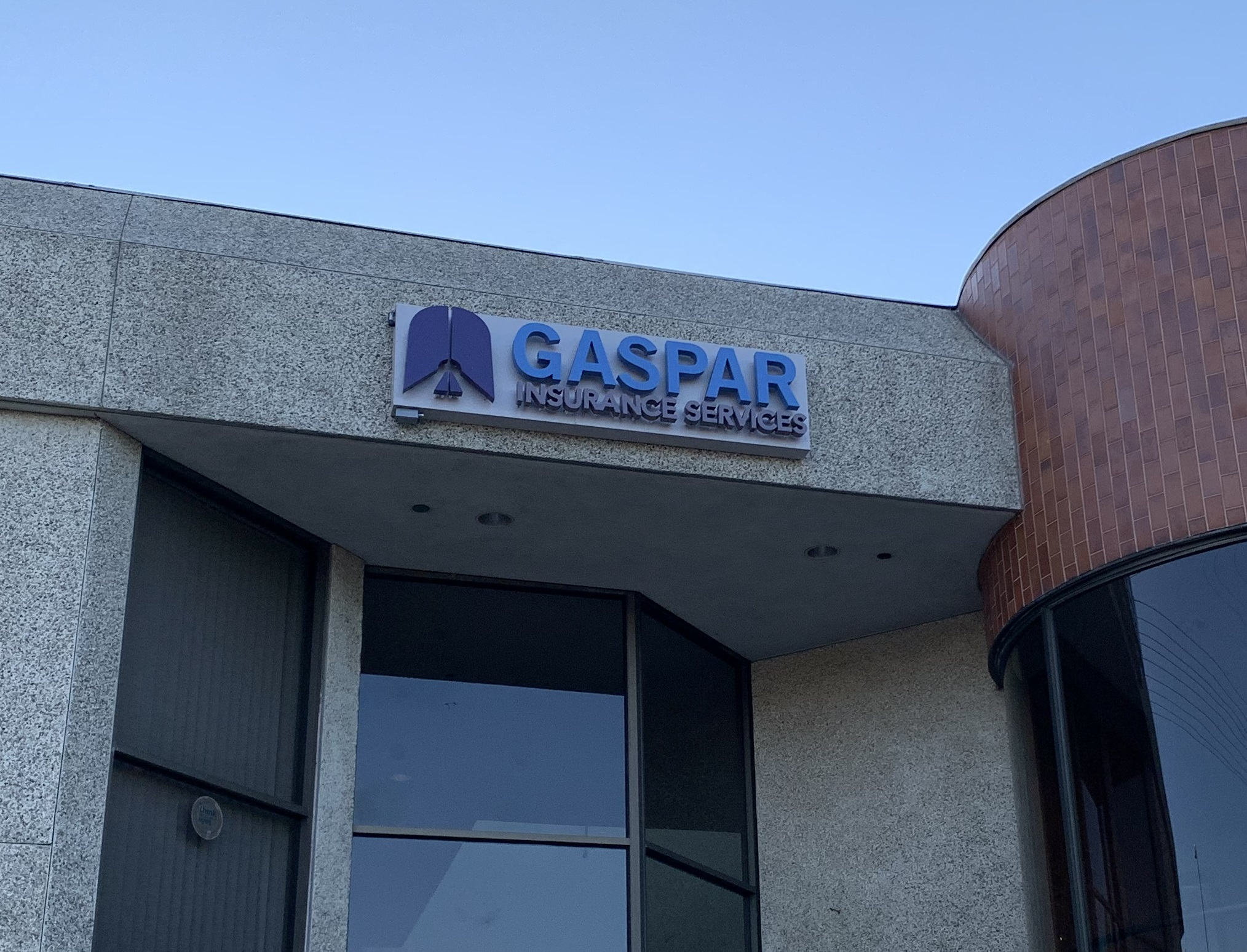 We provide channel letters sign relocation services. We moved Gaspar Insurance's large backlit channel letter sign from to their Woodland Hills location.