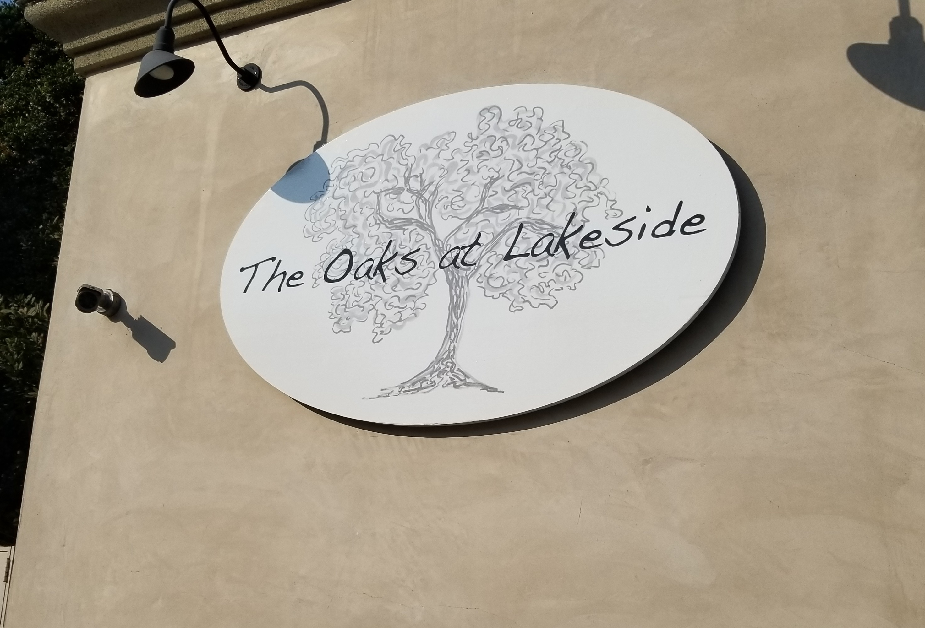 This is our custom restaurant sign for Ventura Bouevard. It shows the new branding of this beautiful Encino restaurant. The Oaks at Lakeside: A DLS Events Venue.