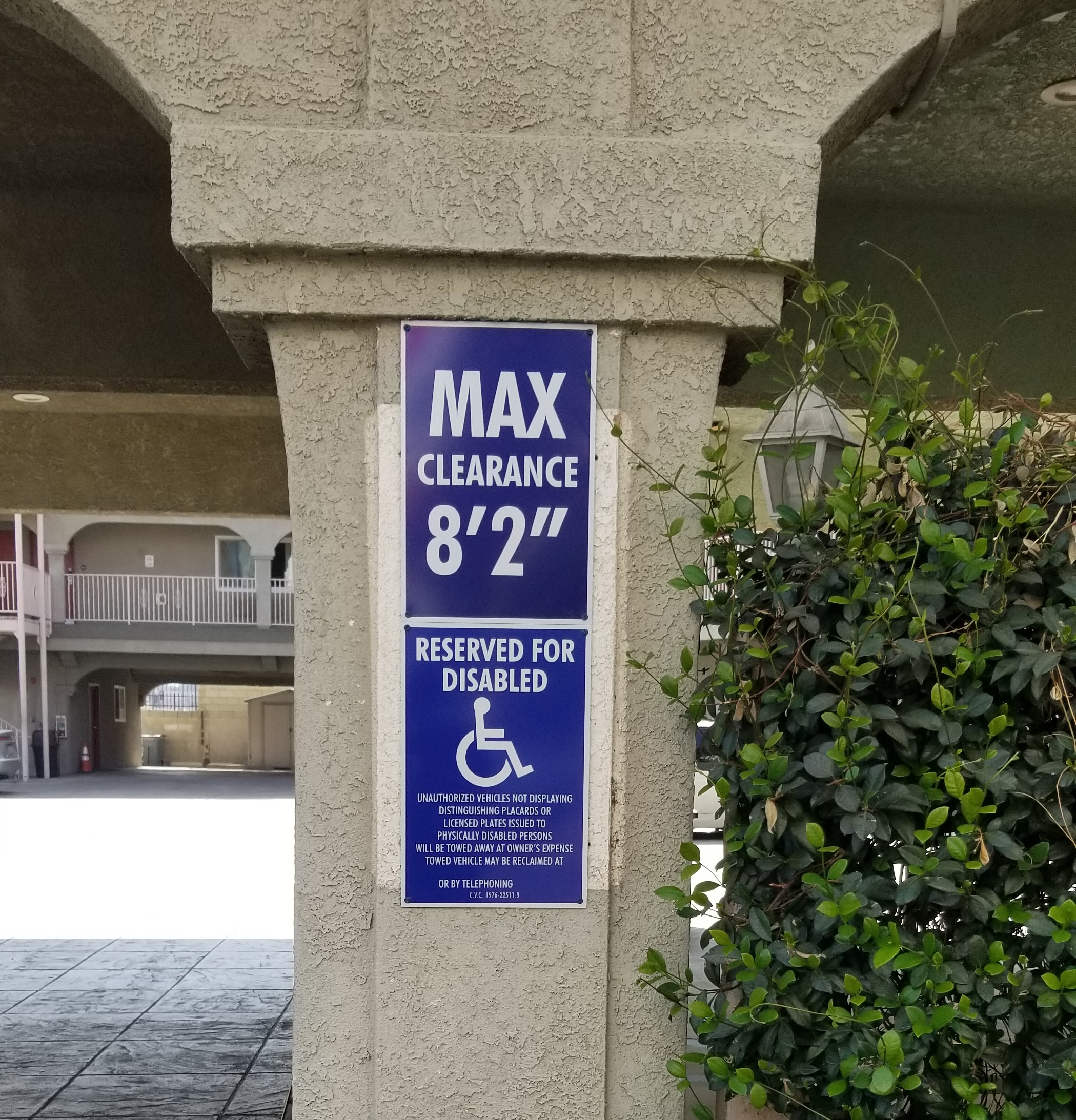 This set is part of the parking lot sign package we made for Colony Inn. With these the North Hollywood hotel will ensure the safety and convenience of motorists using their parking space.