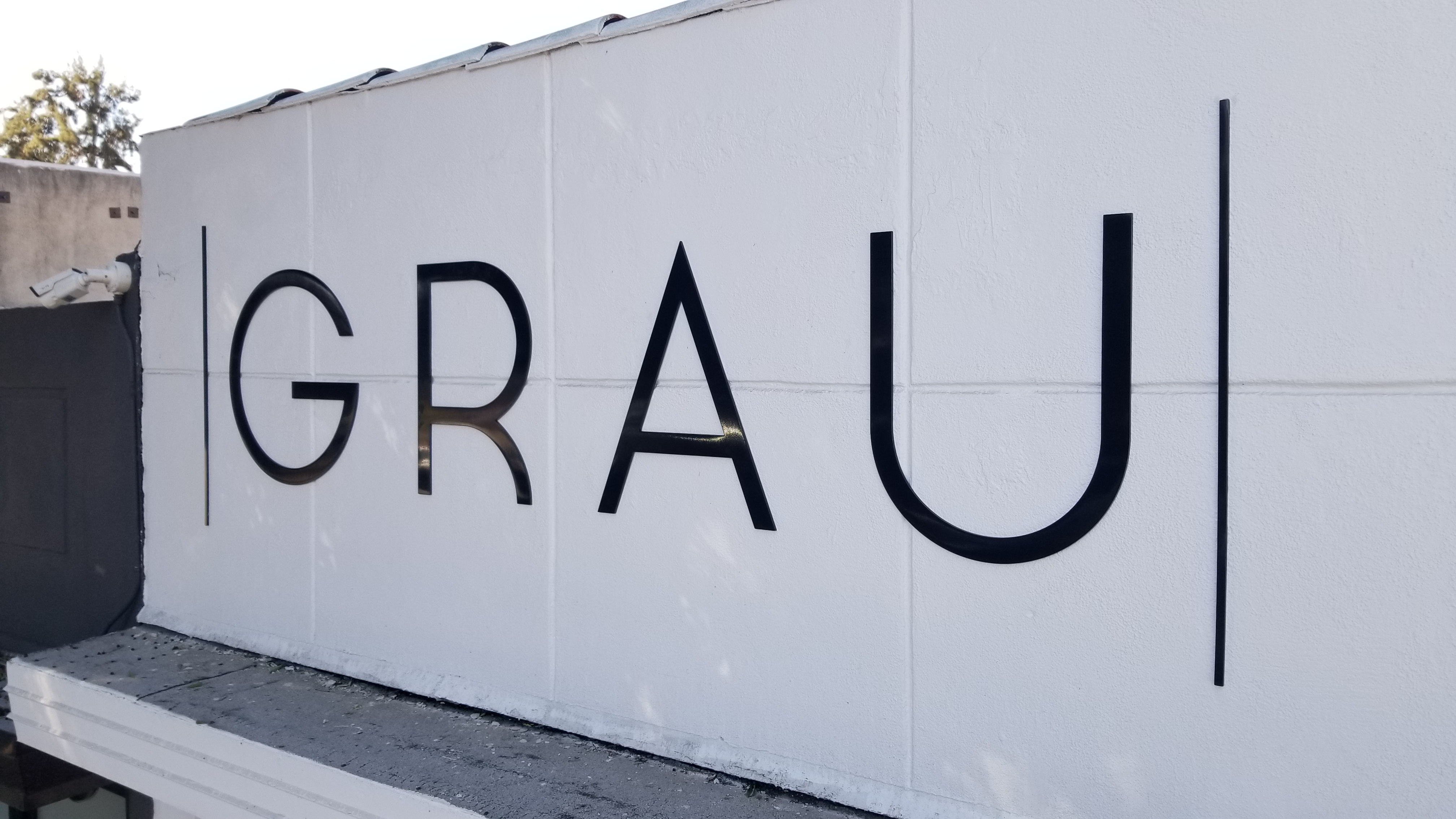 This is the storefront dimensional lettering we fabricated and installed for GRAU Women's Boutique in Burbank.