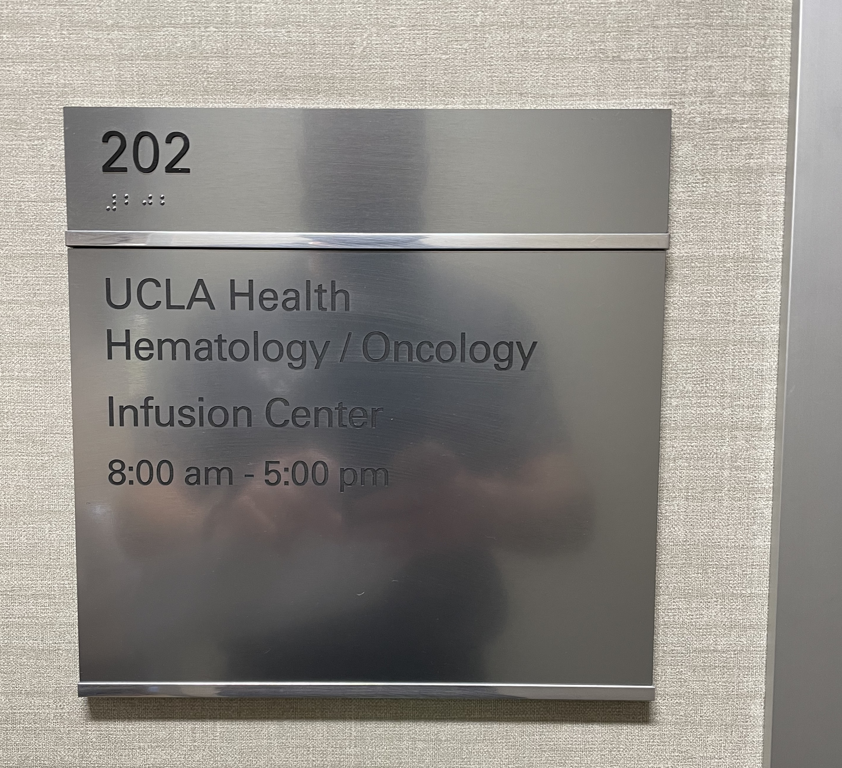 This is the directory suite plaque we made for UCLA Health. With this, the Westlake Village institution's halls will be easier to navigate.