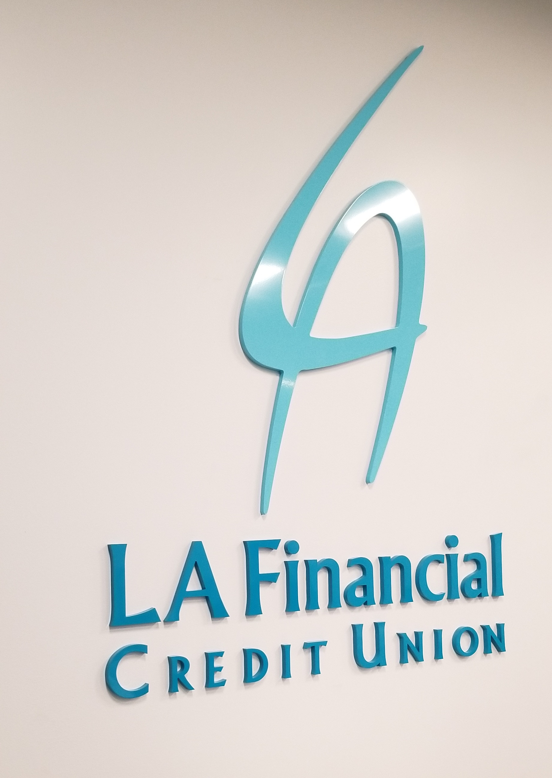 Part of a business sign package for LA Financial, this office lobby sign will definitely spruce up their workplace and make it more eye-catching for clients