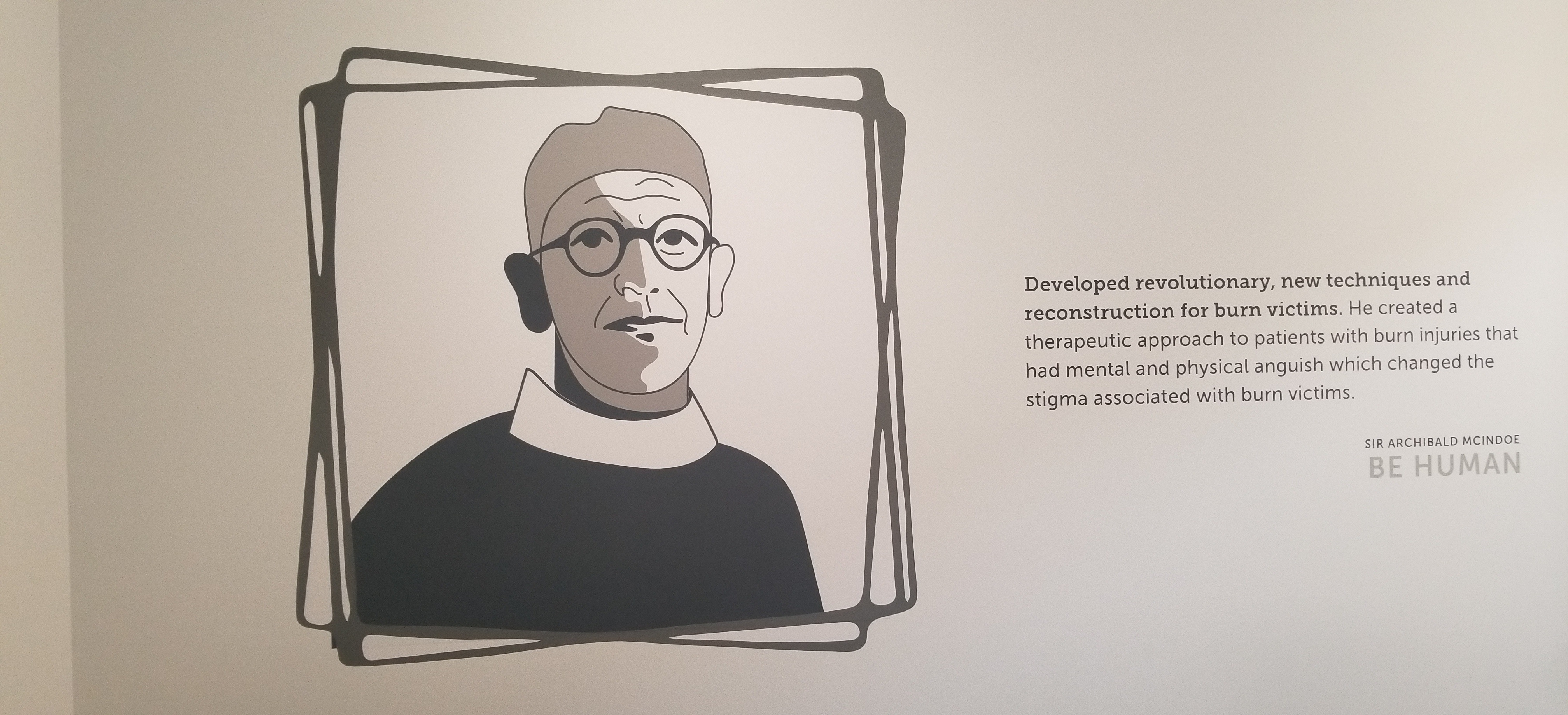 Part of the continuing Office Design Package we've created for Tiger Connect, framed wall graphics of various doctors who have distinguished themselves.