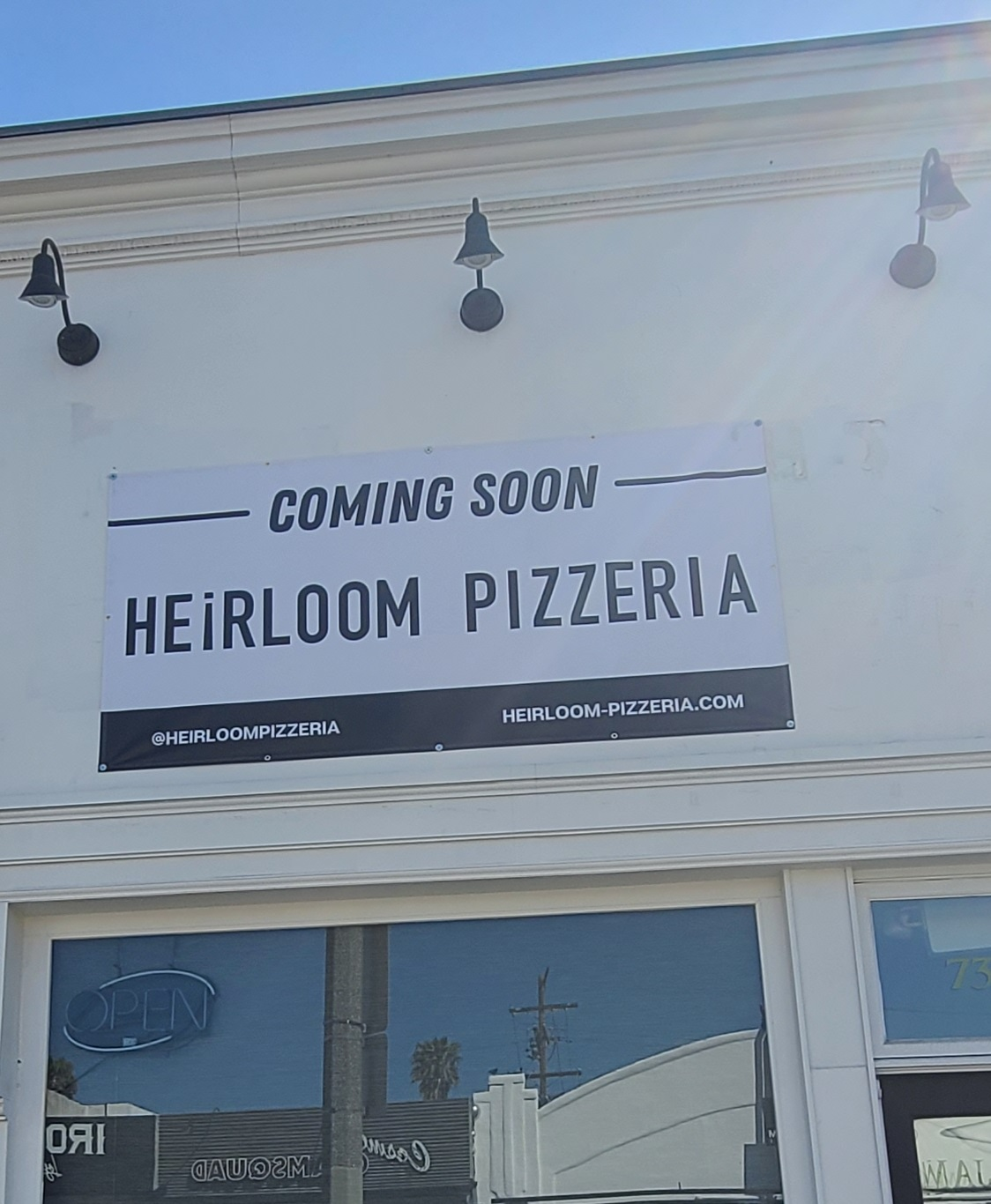 This is the temporary banner we provided Heirloom Pizza while we make their permeant sign.