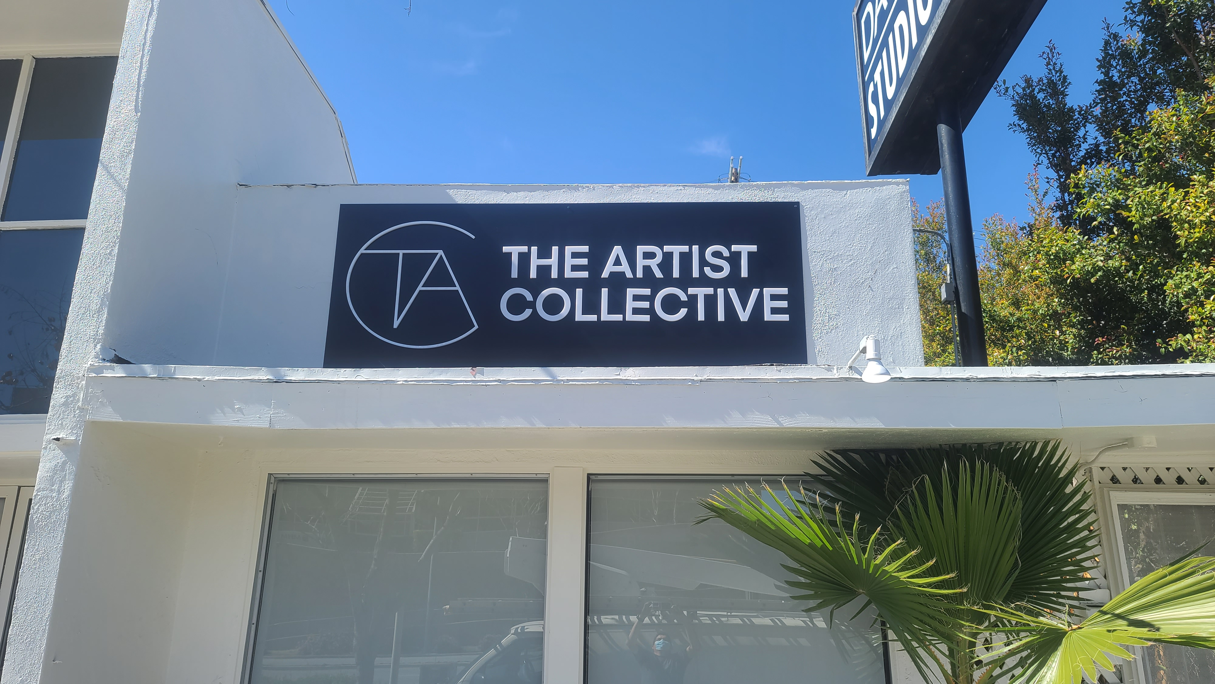 This is the custom dimensional lettering sign we fabricated and installed for The Artist Collective in Los Angeles.