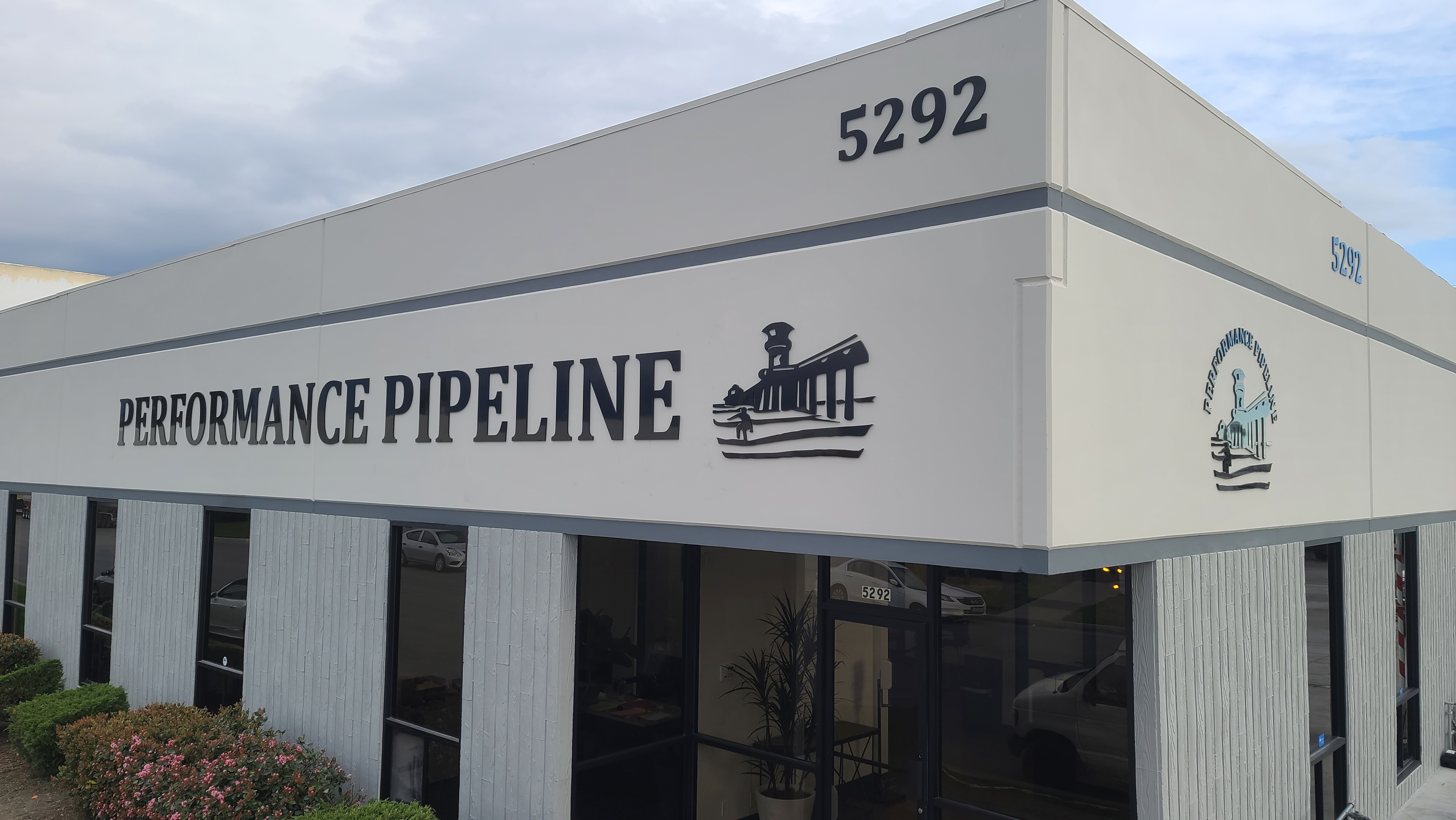 This set of dimensional letters is part of our Business Sign Package for Perfromance Pipeline in Huntington Beach.