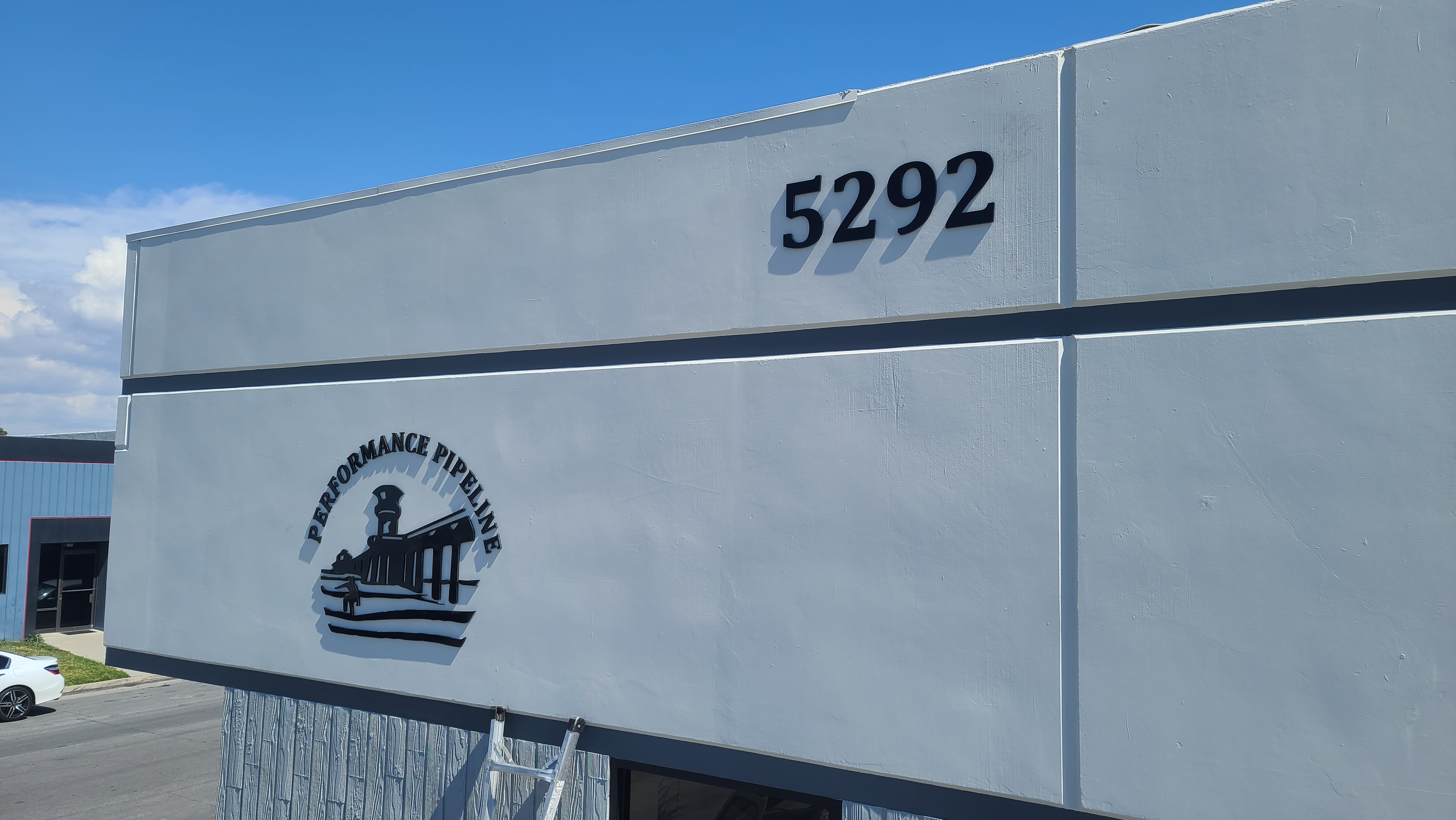More highlights from our dimensional letters business sign package for Performance Pipeline's Huntington Beach facility