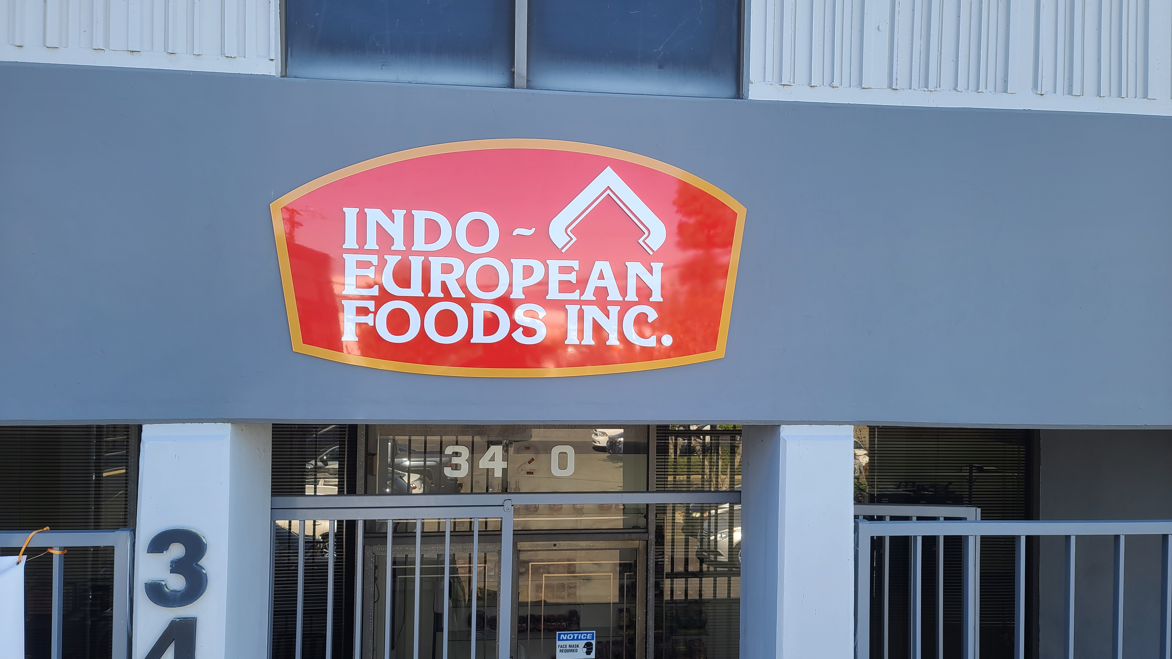 With this custom business sign package Indo-European's establishment in Commerce looks more visually attractive.