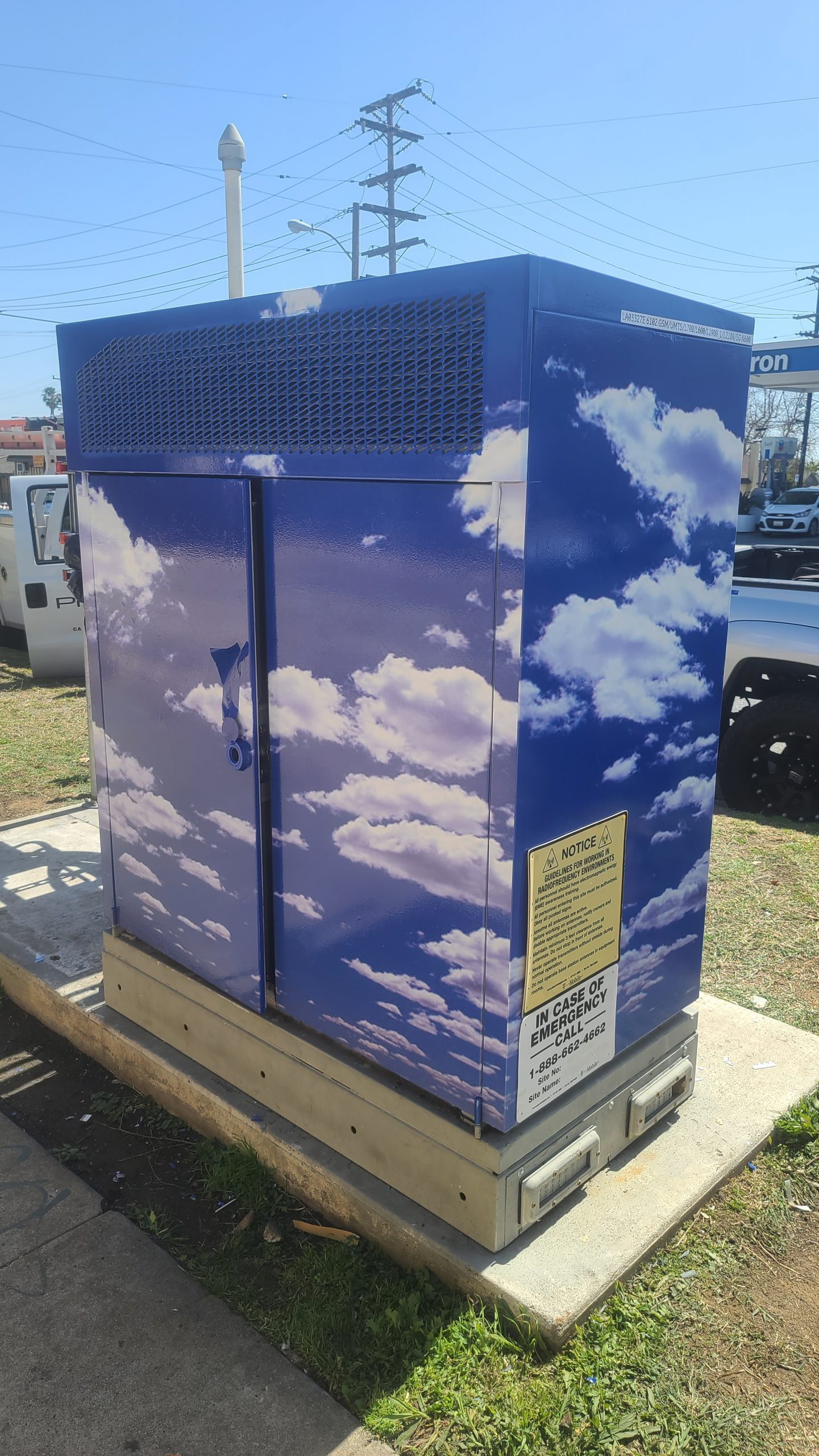 This is the full utility box vinyl wrap we made and installed for Process Cellular in Santa Ana.