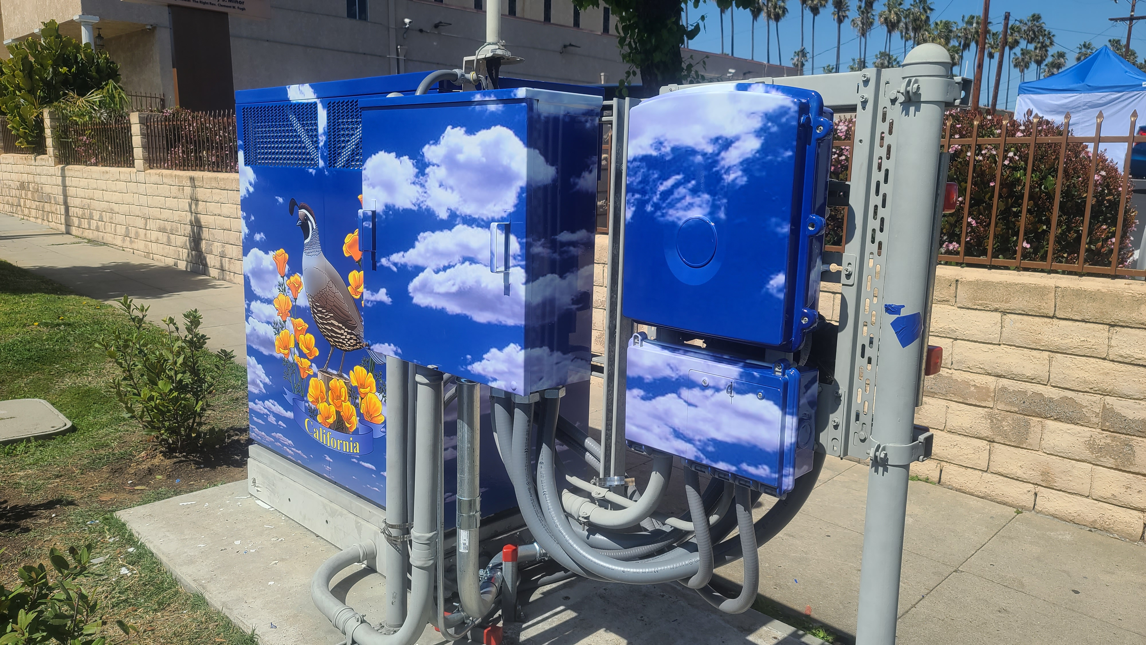 More from the utility box vinyl wrap sign package we provided Process Cellular in Santa Ana.