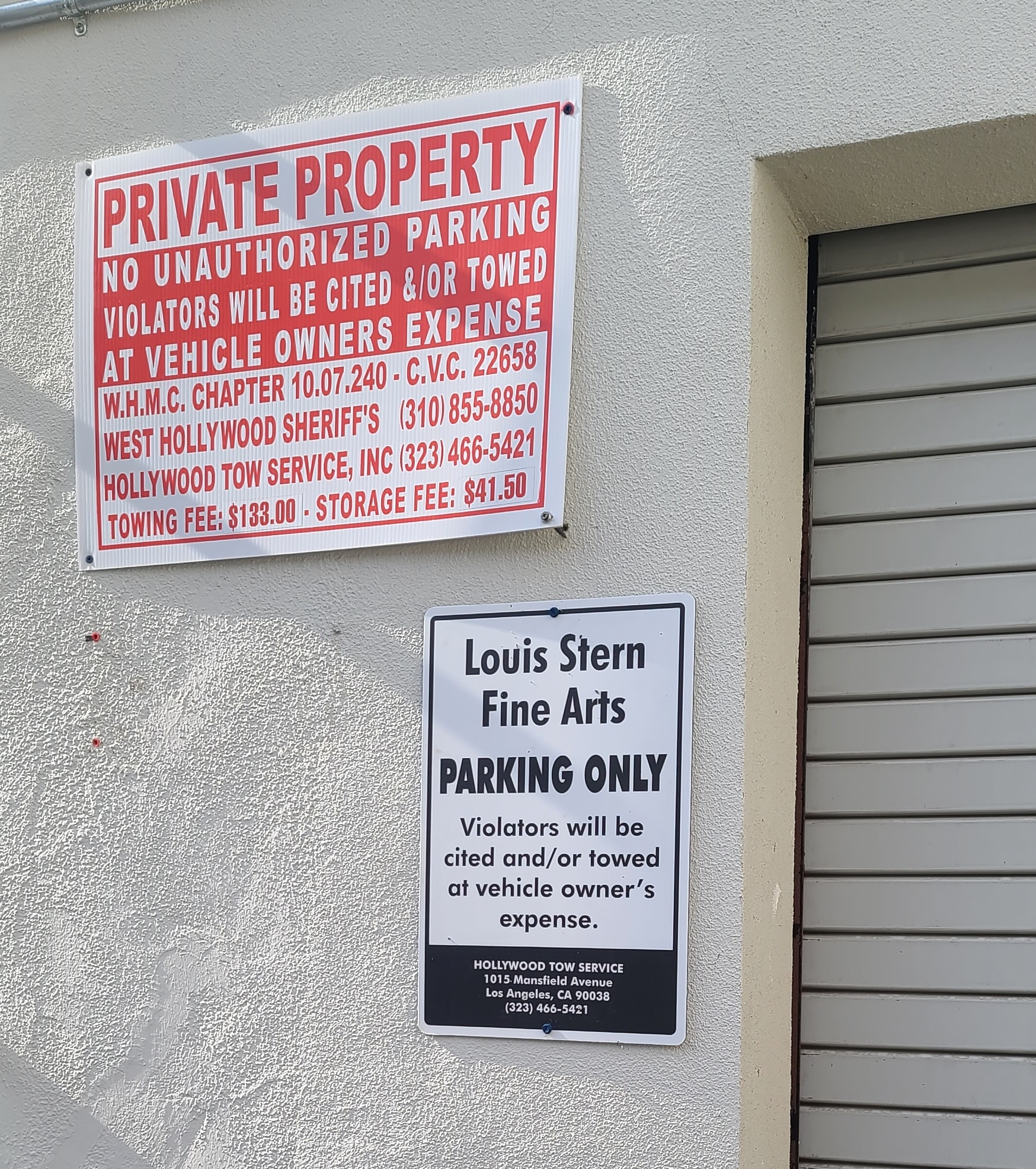 These are the parking lot signs we fabricated and installed for Faring in West Hollywood.